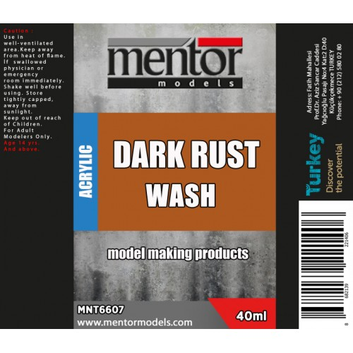 Dark Rust Wash